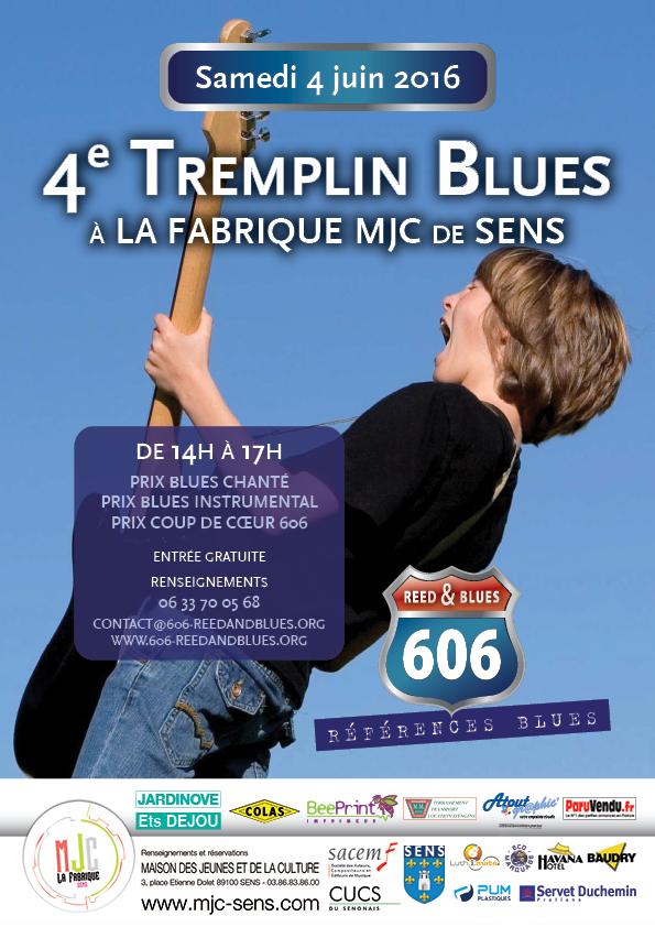 Affiche A4 Tremplin Blues 2016
